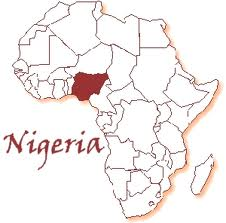 Africa with nigeria higlited